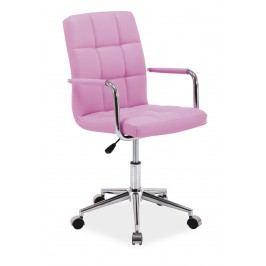 Kancelářské křeslo Q-022 (ružová) Kancelářské křeslo