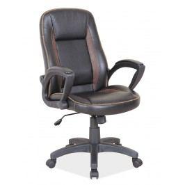 Kancelářské křeslo Q-810 (ekokůže černá + hnědá)