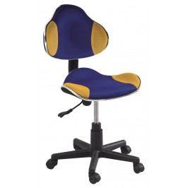 Kancelářské křeslo Q-G2 (modrá + žlutá)