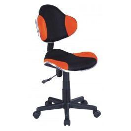 Kancelářské křeslo Q-G2 (oranžová + černá)