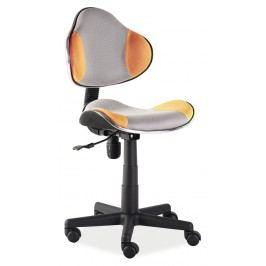 Kancelářské křeslo Q-G2 (oranžová + šedá)