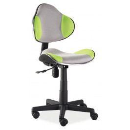 Kancelářské křeslo Q-G2 (zelená + šedá)