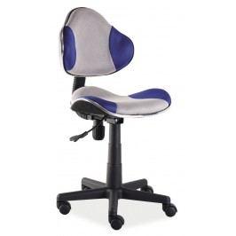 Kancelářské křeslo Q-G2 (modrá + šedá)