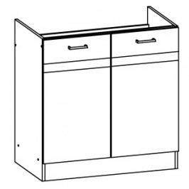 Spodní kuchyňská skříňka pod dřez Eliza EZ17 D80Z