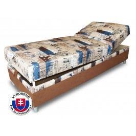 Jednolůžková postel (válenda) 80 cm Benab Rafael Steel (s roštem a matrací)