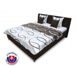 Manželská postel 160 cm Benab Montana (s rošty, přehozem a polštáři)