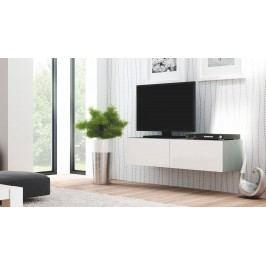 TV stolek/skříňka Livo RTV-160W (šedá + lesk bílý)