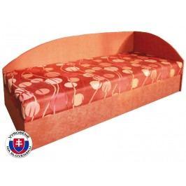 Jednolůžková postel (válenda) 80 cm Marta (s molitanovou matrací) (P)