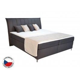 Manželská postel Boxspring 180 cm Blanár Colorado (hnědá) (s matracemi)