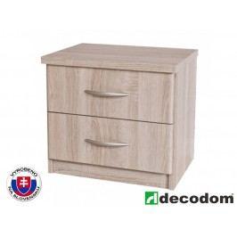 Noční stolek Decodom Casandra Typ 01 (dub řezaný bardolino)
