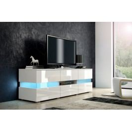 TV stolek Inter bílá + lesk bílý