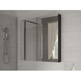 Koupelnová skříňka na stěnu Della 60 černá + zrcadlo