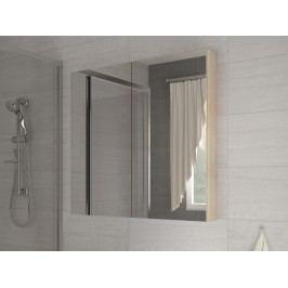 Koupelnová skříňka na stěnu Della 80 dub sonoma světlý + zrcadlo