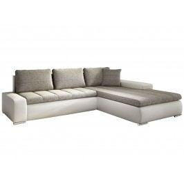 Rohová sedací souprava Tivano béžová + koženka bílá (P)