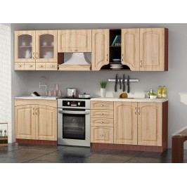 Kuchyně Sandra MDF 260 cm dub messi