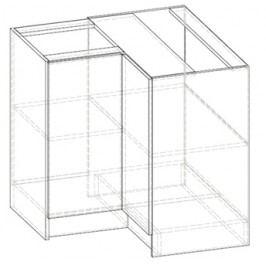 Dolní kuchyňská skříňka, rohová Livia LV-12 (sonoma tmavá) (P)