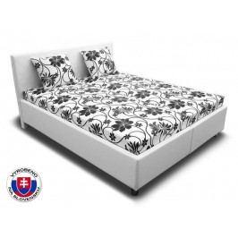 Manželská postel 160 cm Leona 3 (s pružinovými matracemi)