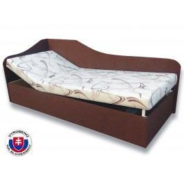 Jednolůžková postel (válenda) 80 cm Anita (Sand 10 + Tmavě hnědá 40) (L)