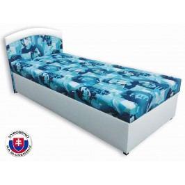 Jednolůžková postel (válenda) 80 cm Elvis (Bílá koženka + Elvis 2)