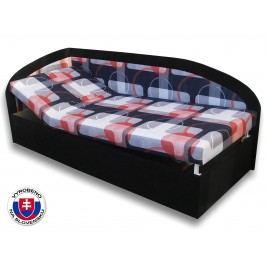 Jednolůžková postel (válenda) 90 cm Kamila (Černá 39 + Mimi 21) (L)