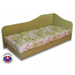 Jednolůžková postel (válenda) 80 cm Lux 87 (Světle zelená 72 + Muro 30) (P)