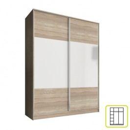 Šatní skříň Ava 160 cm (dub sonoma + bílá)