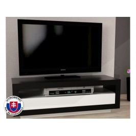 TV stolek/skříňka Agnes (černá + bílá)