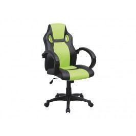 Kancelářské křeslo Lester (černá + zelená)