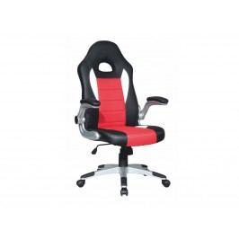 Kancelářské křeslo Marvin (černá + červená + bílá)