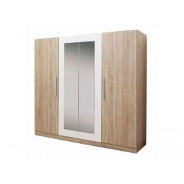 Šatní skříň Matisa (dub sonoma + bílá)