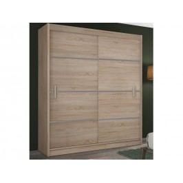 Šatní skříň Merina 203 (dub sonoma + šedá)