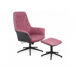 Relaxační křeslo Vagner (růžová + černá)