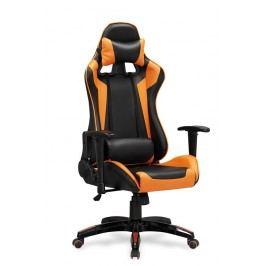 Kancelářské křeslo Defender (černá + oranžová)