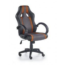 Kancelářské křeslo Radix (šedá + oranžová)