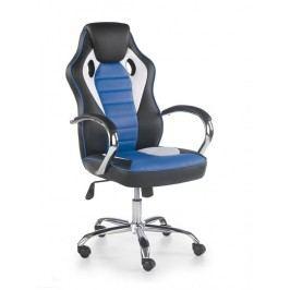 Kancelářské křeslo Scroll (černá + bílá + modrá)