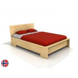 Manželská postel 160 cm Naturlig Lekanger High (borovice) (s roštem)