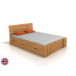 Manželská postel 200 cm Naturlig Tosen High Drawers (buk) (s roštem)