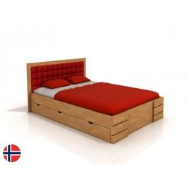 Manželská postel 180 cm Naturlig Storhamar High Drawers (buk) (s roštem)
