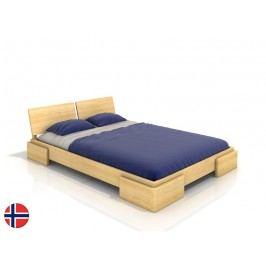 Manželská postel 160 cm Naturlig Jordbaer (borovice) (s roštem)