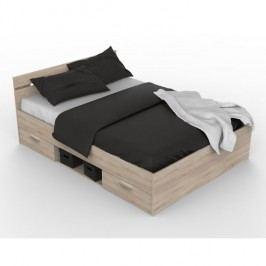 Manželská postel 160 cm Michigan (dub sonoma)
