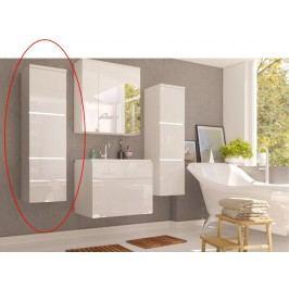 Koupelnová skříňka Mason (bílá + bílá extra vysoký lesk)
