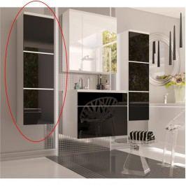 Koupelnová skříňka Mason (bílá + černý extra vysoký lesk)