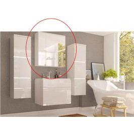 Koupelnová skříňka na stěnu Mason (bílá + bílá extra vysoký lesk)