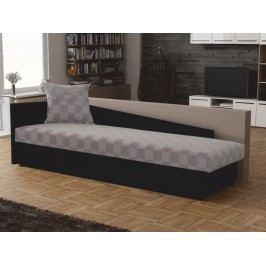Jednolůžková postel (válenda) 80 cm Judit (šedá + černá) (s úl. prostorem) (L)