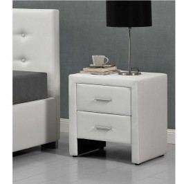 Noční stolek Castel (bílá)