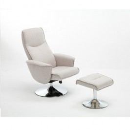 Relaxační křeslo Lonato (krémová)