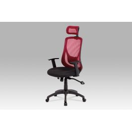 Autronic Kancelářská židle se synchronním mechanismem červená MESH KA-A186 RED