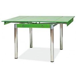 Jídelní stůl rozkládací tvrzené sklo zelené KN022