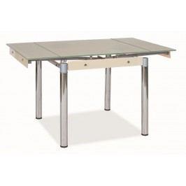 Jídelní stůl rozkládací tvrzené sklo krémové KN022