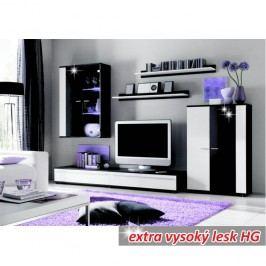 Obývací stěna s LED osvětlením ve stylovém provedení bílá CANES